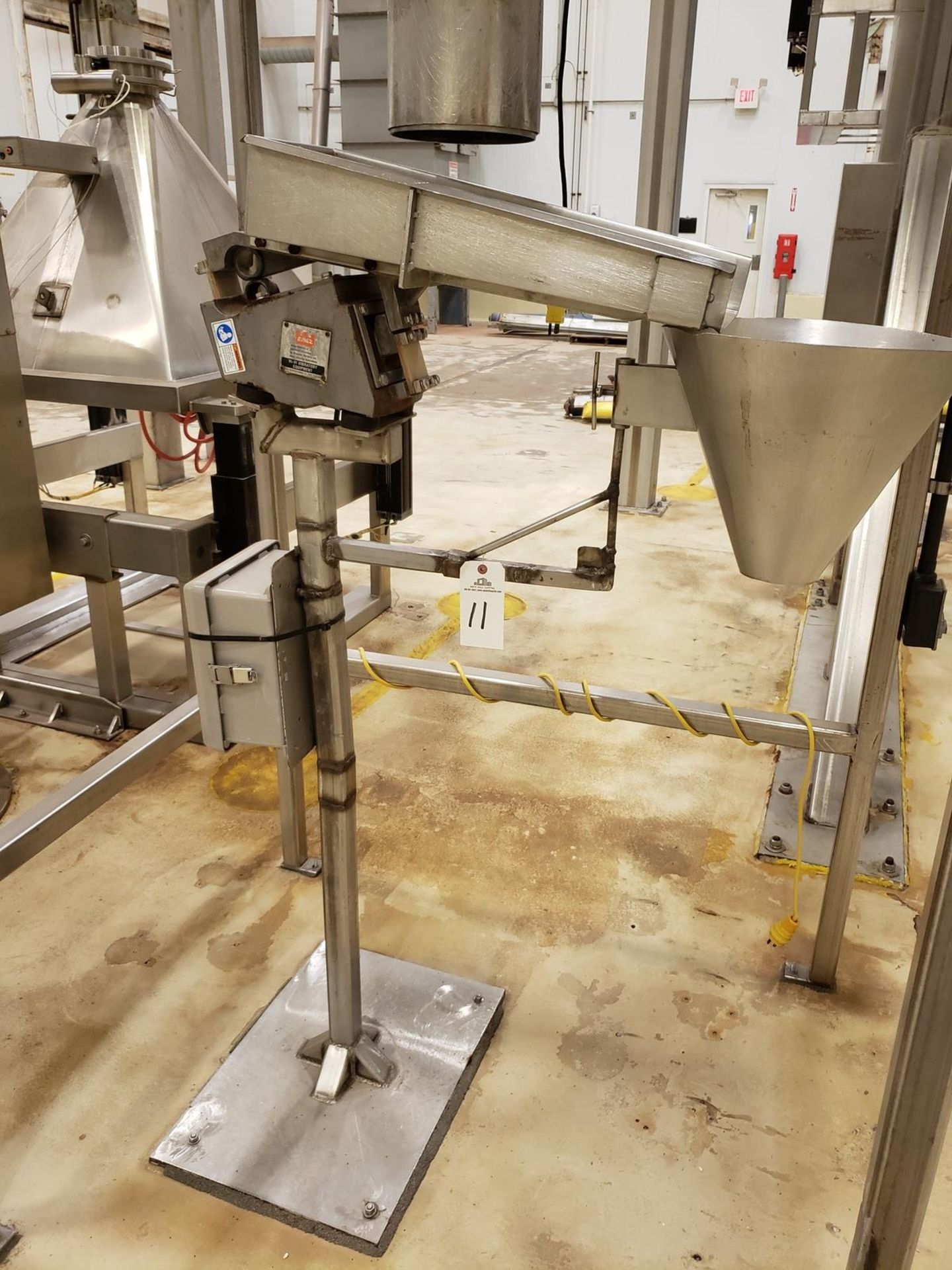 Lot 11 - Eriez Vibratory Shaker Conveyor, M# 36C, S/N 203697 - Loc: NJ | Rig Fee: $75
