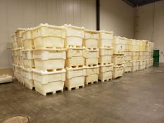 Lot of (approx. 143) 2,000 lb. Poly Totes, W/ Lids - Loc: NJ | Rig Fee: $300