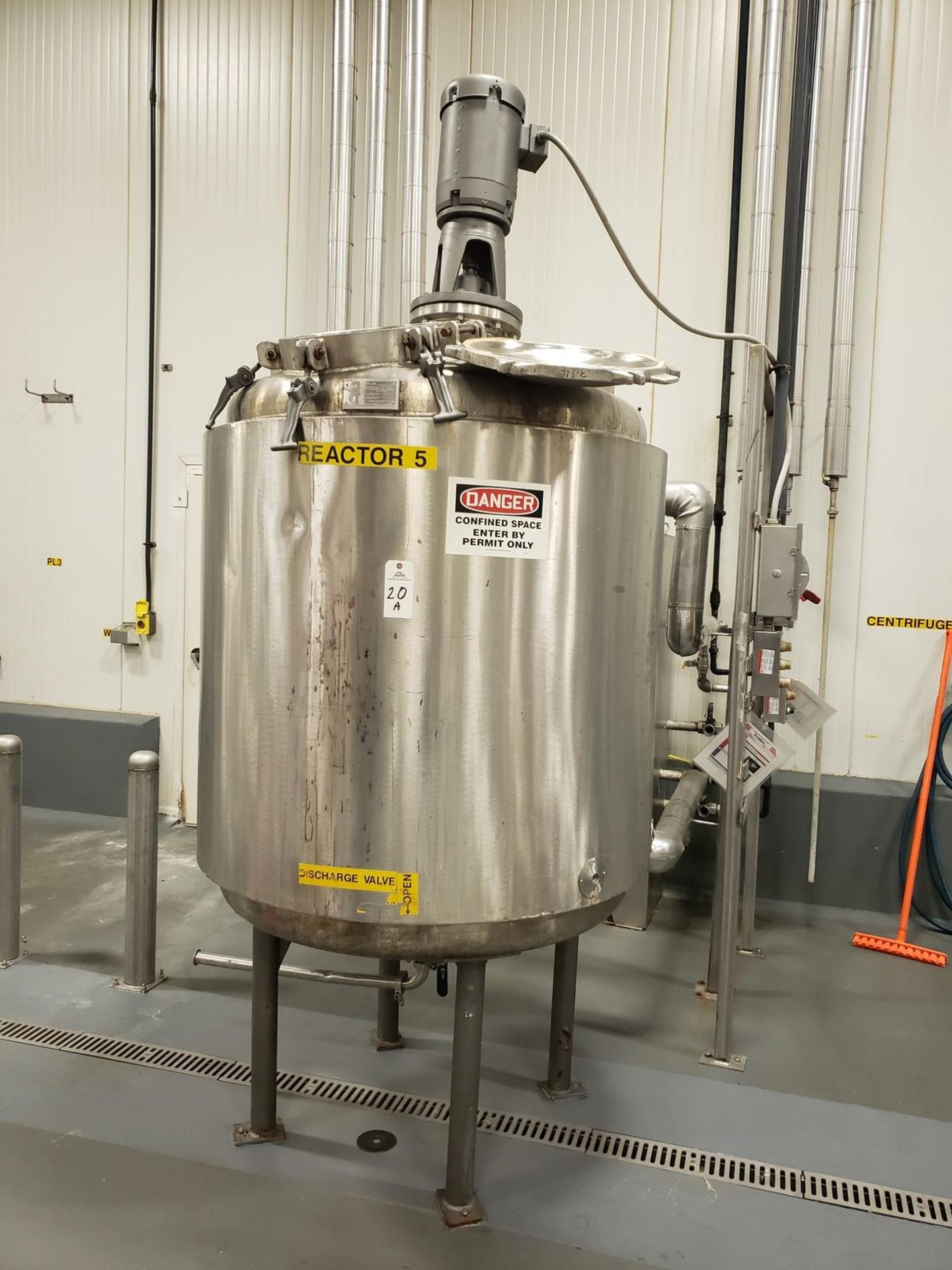 Lot 20A - Reactor - Ross Metal Fabrication 450 Gallon Jacketed, Agitated Reactor Ta - Loc: NJ   Rig Fee: $750