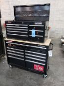 Craftsman Top & Husky Bottom Tool Chests, W/ Contents, (See Additional Pictures) Rig Fee: $25