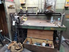 Work Bench W/ Vise Rig Fee: $50