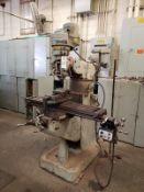 """Bridgport 9"""" X 42"""" Vertical Mill, S/N 12/BR 95 563 Rig Fee: $250"""