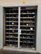 Bin Storage Cabinet, W/ Contents, Drills Rig Fee: $50
