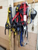 Lot of Fall Safety Harnesses Rig Fee: $25