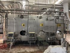 Cherry Burrell 1,000 Gallon Jacketed Stainless Steel Tank, Agitated, Model 74E61   Rig $ See Desc