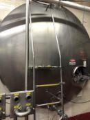 Cherry Burrell 6,000 Gallon Stainless Steel Horizontal Tank   Rig $ See Desc