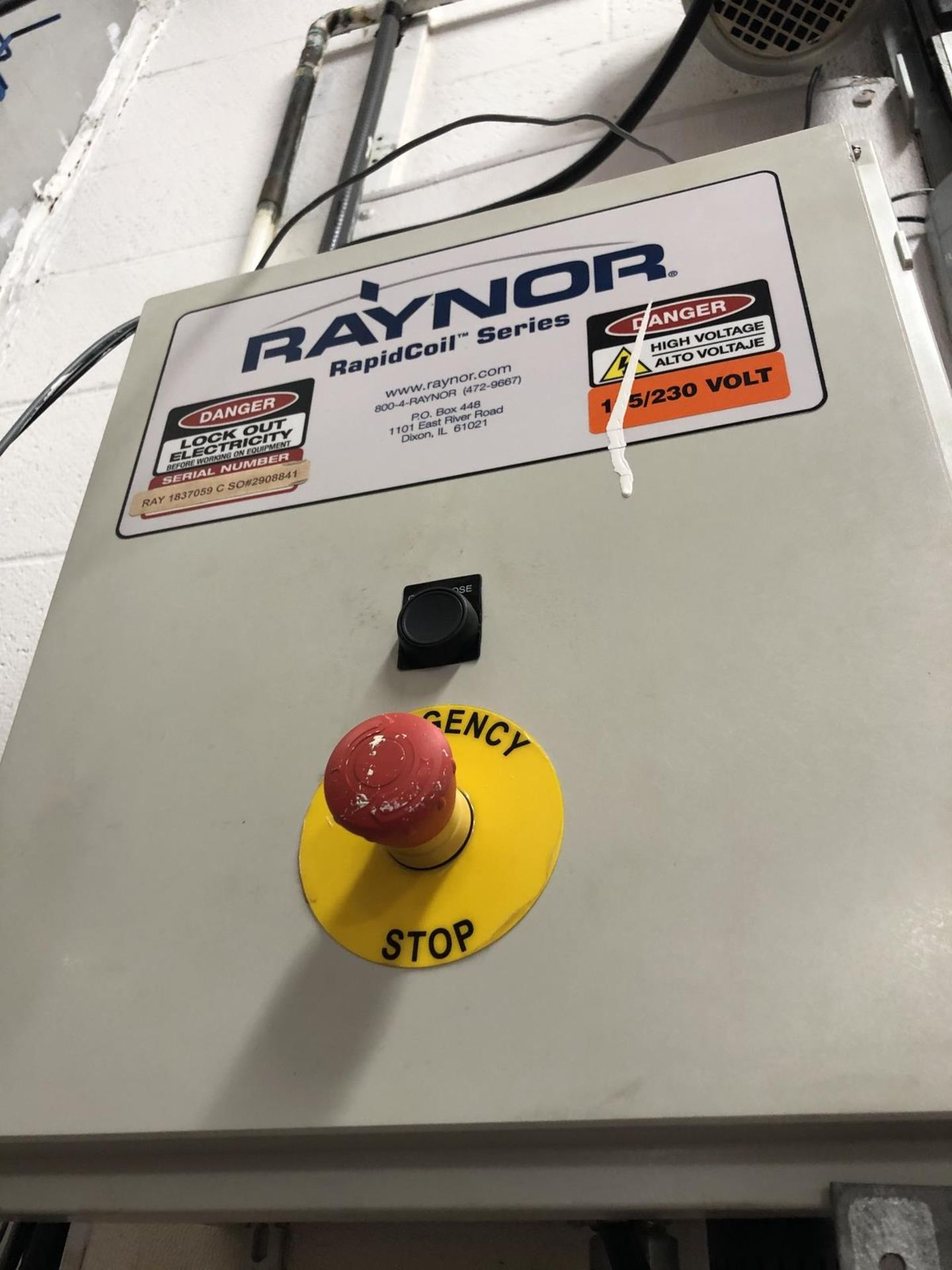 Lot 118 - Raynor Rollling (Garage) Door, Automatic Open and Close System, Missing Cover | Rig $ See Desc