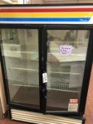True Double Glass Door Refrigerator, Model GDM-49   Rig $ See Desc