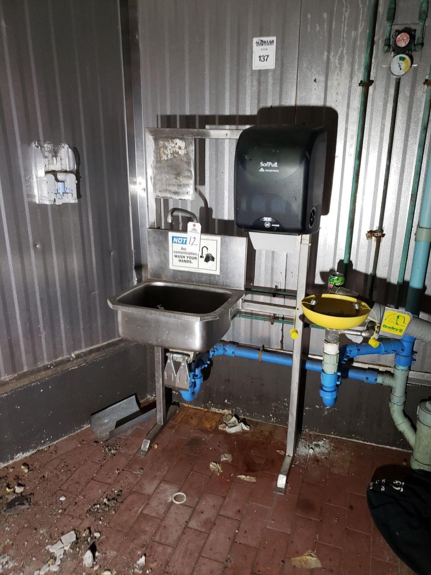 Lot 12 - Stainless Steel Sink, W/ Eye Wash