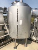 Stainless Steel Tank, Approx 1,000 Gallons, Dome Top, Top Manway | Rig Fee: $250 See Full Desc