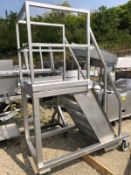 Rolling SS Platform, Approx 30in x 30in Platform, 8ft Total Height | Rig Fee: $150 See Full Desc
