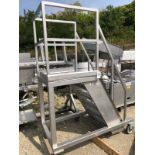 Rolling SS Platform, Approx 30in x 30in Platform, 8ft Total Height   Rig Fee: $150 See Full Desc