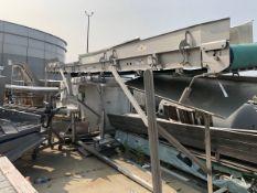 Overhead conveyor, Approx 2ft Belt x 32ft L | Rig Fee: $250 See Full Desc