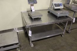 """Stainless Steel Table, 32"""" x 47""""   Rig Fee: $20"""
