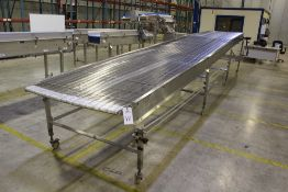 """Stainless Steel Wire Mesh Belt Conveyor Section, 43"""" x 24'   Rig Fee: $50"""