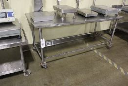 """Stainless Steel Table, 30"""" x 72""""   Rig Fee: $20"""