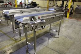 """Multi-Conveyor Stainless Steel Conveyor Section, 15"""" x 89"""" with Washdown Belt Driv   Rig Fee: $110"""