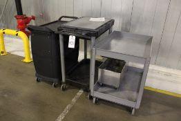 Lot of (3) Warehouse Carts   Rig Fee: $15