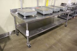 """Stainless Steel Table, 36"""" x 90""""   Rig Fee: $20"""