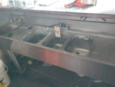3-Compartment Stainless Steel sink - Sub to Bulk | Reqd Rig Fee: $200