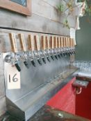 16-Tap Draft System, Includes Regulator and Available Couplers - Sub to Bulk | Reqd Rig Fee: $350