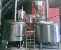 2013 Pacific Brewing 30 BBL 3-Vessel Brewhouse + Hot Liquor Tank - Sub to Bulk | Reqd Rig Fee: $6500