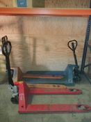 (3) Pallet Jacks - Sub to Bulk | Reqd Rig Fee: $50 or Hand Carry