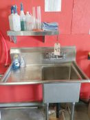Stainless Steel Sink - Sub to Bulk | Reqd Rig Fee: $100