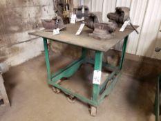 "Portable Welding Table, 36""x44""x1/4""   Rig Fee: $10"