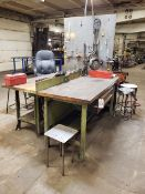 """Lot of (2) Wood Top Work Benches, 30""""x72""""   Rig Fee: $65"""