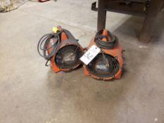 Lot of (2) Ecko Ventilation Fans   Rig Fee: $20