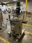 35 GALLON REACTOR: IBS-HENINRICHPORTABLE STAINLESS STEEL JACKETED REACTOR TANK WITH | Rig Fee: $100