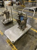 WILDEN PUMP M8 STAINLESS STEEL DIAPHRAGM PUMP, 316 STAINLESS STEEL WITH CART | Rig Fee: $35