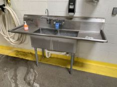 """SINK 24"""" X 72"""" X 36"""" HIGH STAINLESS STEEL SINGLE BOWL SINK 