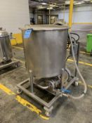 80 GALLON WALKER PORTABLE STAINLESS STEEL TANK; S/N 6092, WITH 7.5 HP TECO POSITIVE | Rig Fee: $100