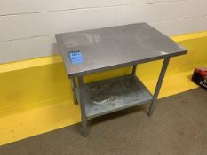 """24"""" X 36"""" X 33.5"""" HIGH STAINLESS STEEL TABLE 
