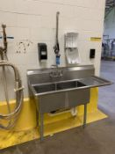 """SINK: 24"""" X 57"""" WIDE X 36"""" HIGH STAINLESS STEEL TWO-BOWL SINK 