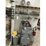 {LOT} Asst. Clamps, Jumper Cables & Creeper