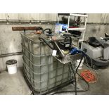 {LOT} 330 Gallon Tote w/Approx 275 Gallons of Blue Def Blue Diesel Exhaust Fluid w/Pump
