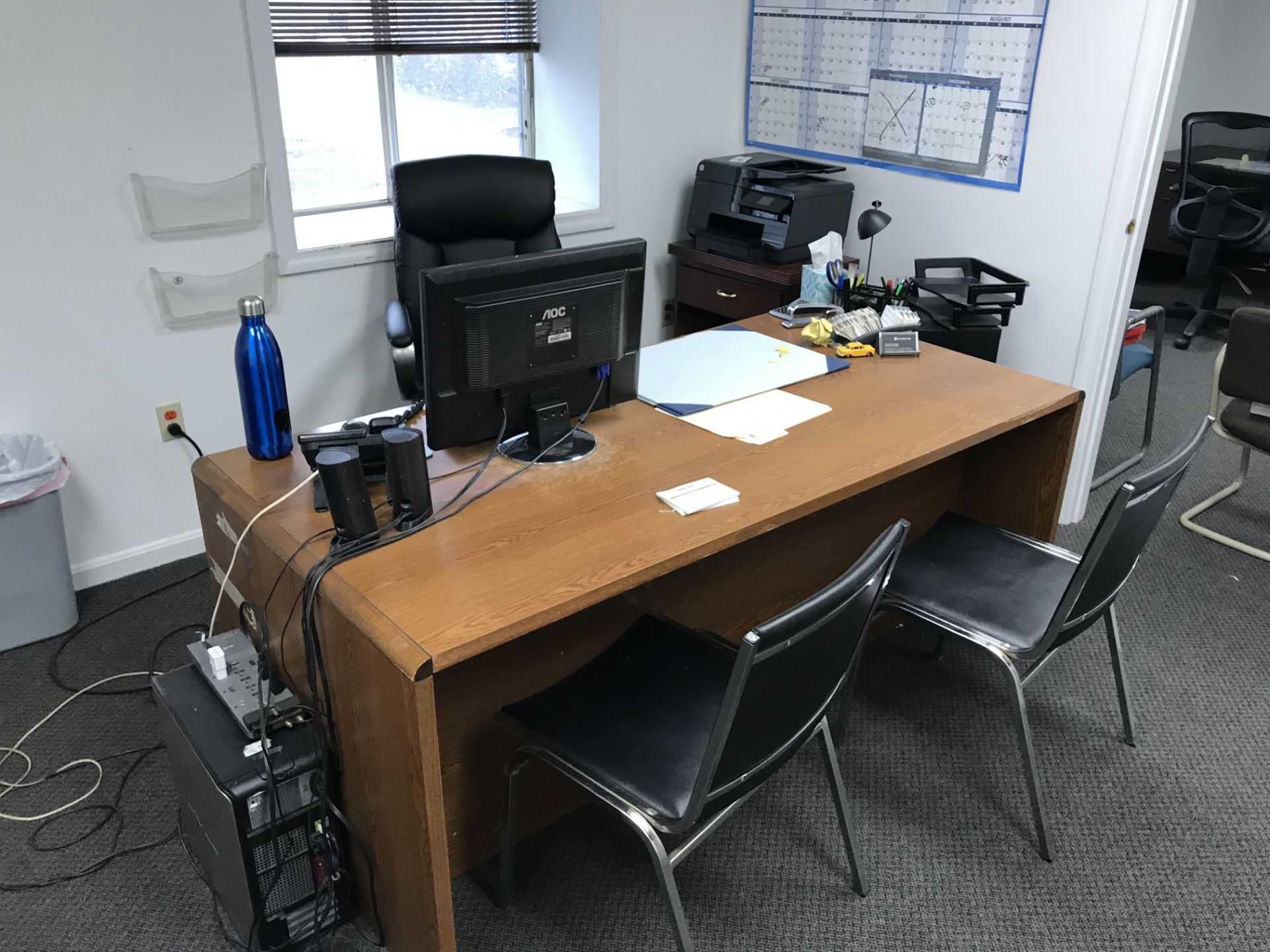 Lot 2 - {LOT} Asst. Furniture in Office c/o: Desks, Chairs & Files