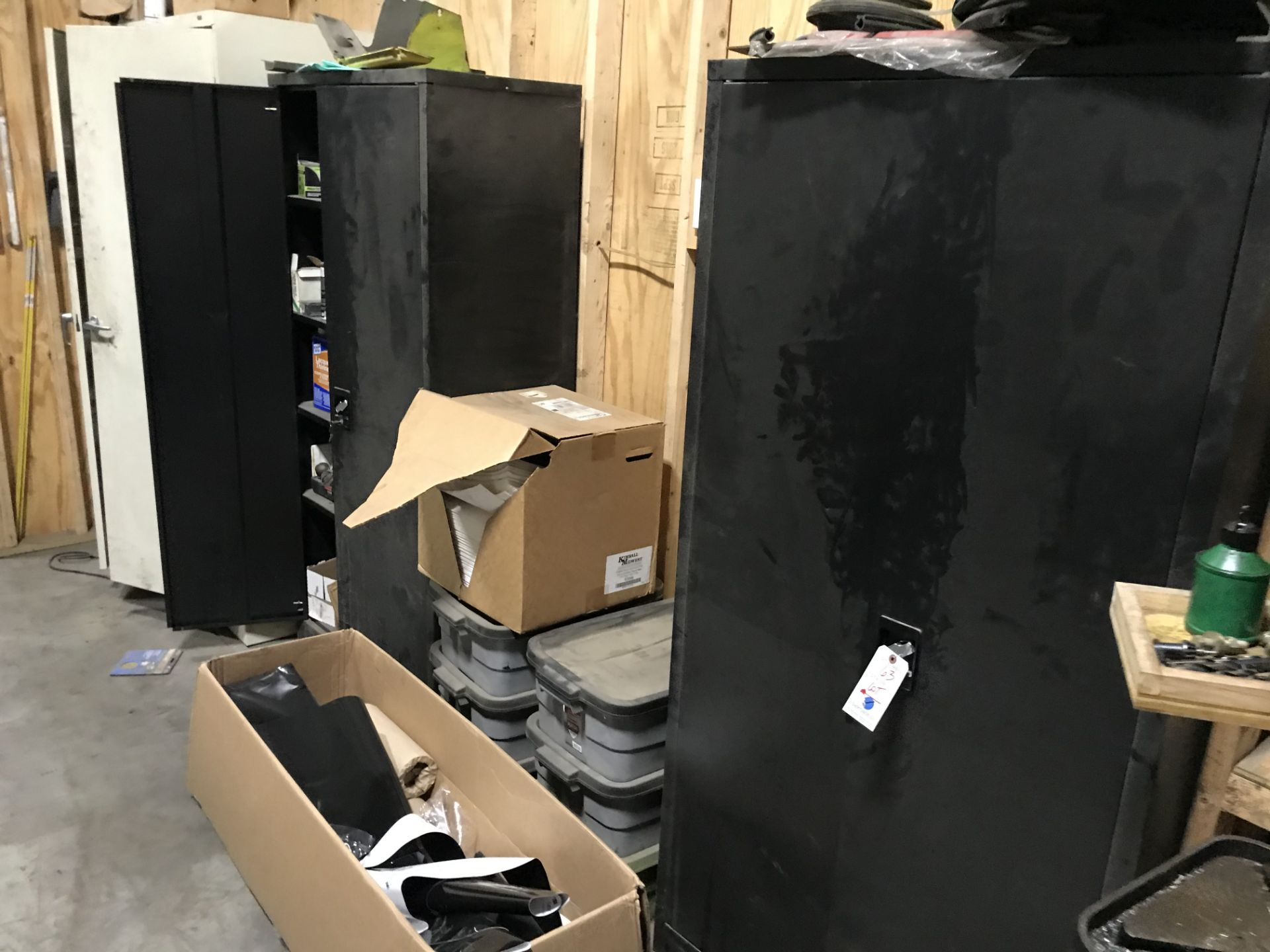 Lot 63 - {LOT} 3 Cabinets w/Contents & Misc. Supplies