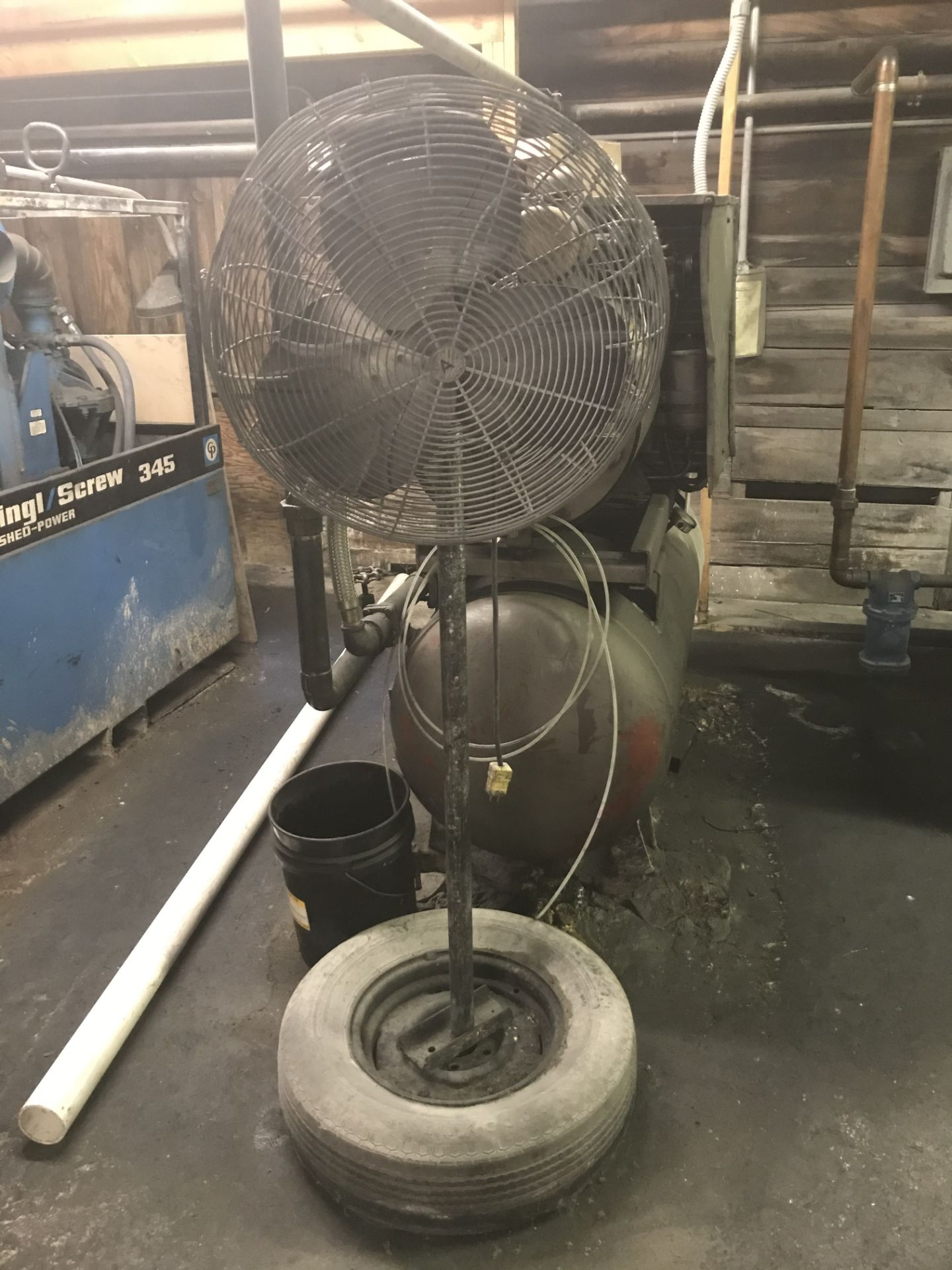 Lot 241 - {LOT} Balance in Storage Shed Only on Right Side c/o: Hose, Hardware, Tools, Etc.