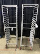 (2) Aluminum Portable Pan Racks