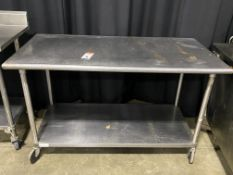 "60"" x 30"" All SS Portable Table w/Undershelf"