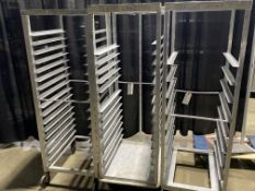 (3) Asst. Aluminum Portable Pan Racks