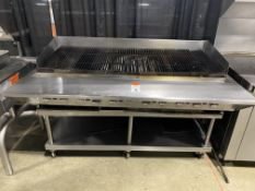 "Vulcan 60"" Gas Chargrill w/All SS 60"" Portable Stand"