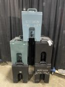 (5) As is Asst. Color Cambro Insulated Liquid Dispensers w/Spigot (All Have Broken Lid Latches)