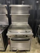 "Southbend SS Single Oven Gas 31"" Flat Top Range w/Overshelves"