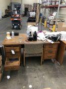 (3) Desks, 3 Chairs & Bookcase (NO ELECTRONICS)