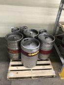 {LOT} On Pallet c/o: (4) 1/2 Barrel 15.5 Kegs & (3) 1/6 Barrel Empty Kegs